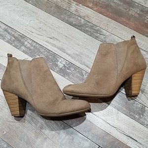 Brash tan ankle booties size 8
